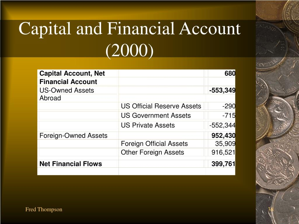 Capital and Financial Account (2000)
