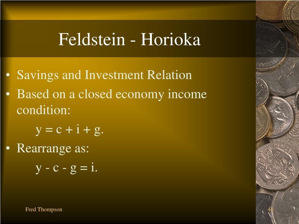 Feldstein - Horioka