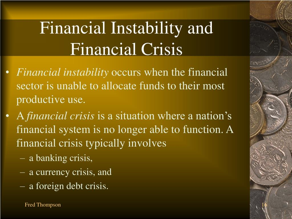 Financial Instability and Financial Crisis