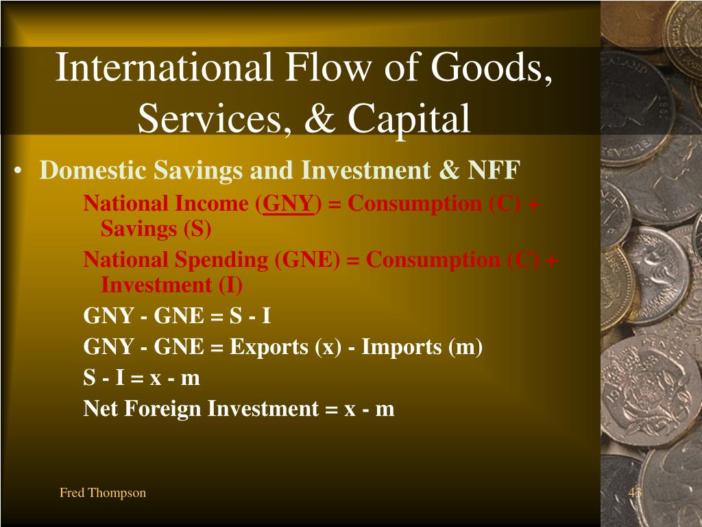 International Flow of Goods, Services, & Capital