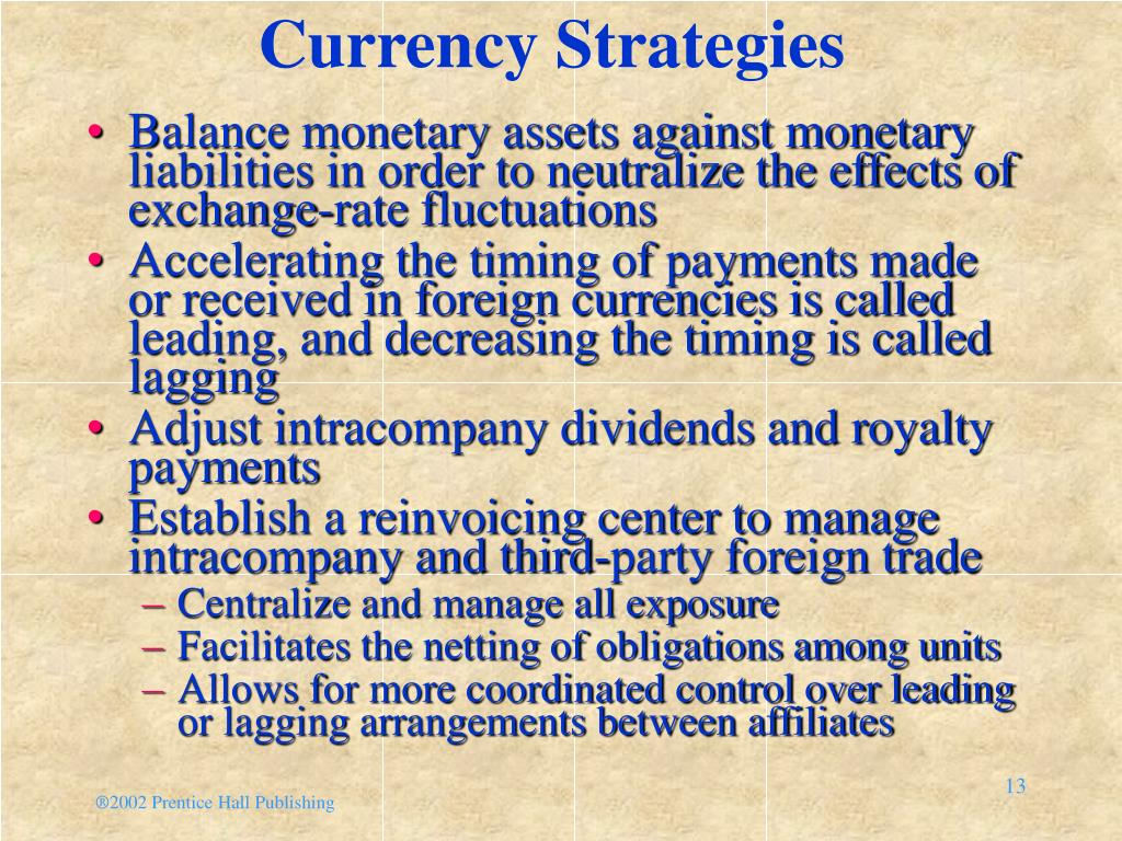 Currency Strategies