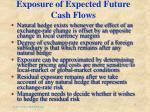 exposure of expected future cash flows
