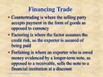 financing trade