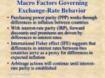 macro factors governing exchange rate behavior
