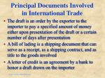 principal documents involved in international trade