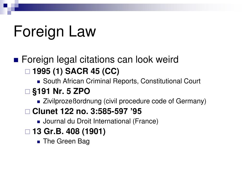 Foreign Law