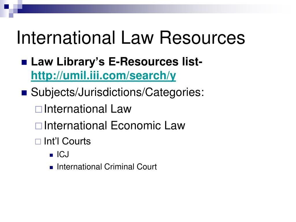 International Law Resources