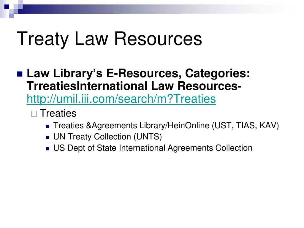 Treaty Law Resources