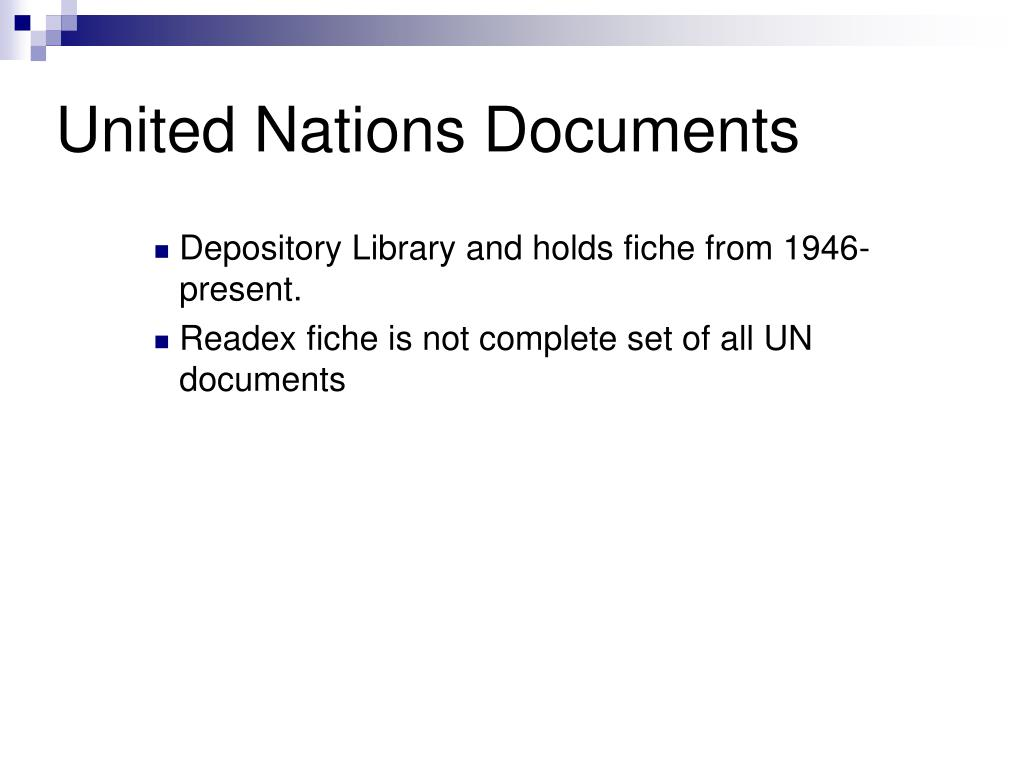 United Nations Documents