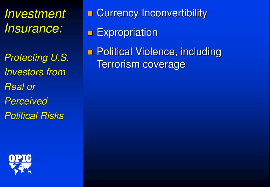 Investment Insurance: