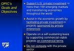 opic s goals and objectives