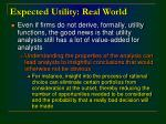expected utility real world5