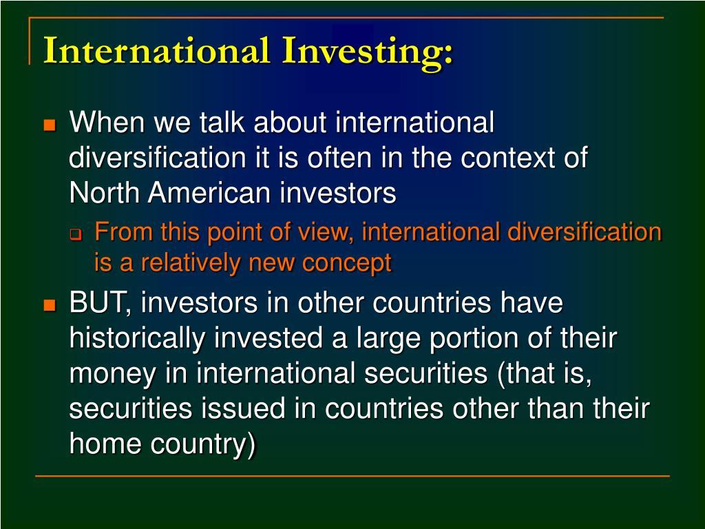 International Investing: