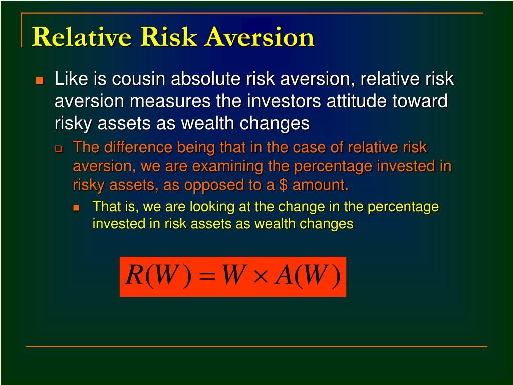 Relative Risk Aversion