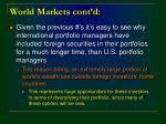 world markets cont d
