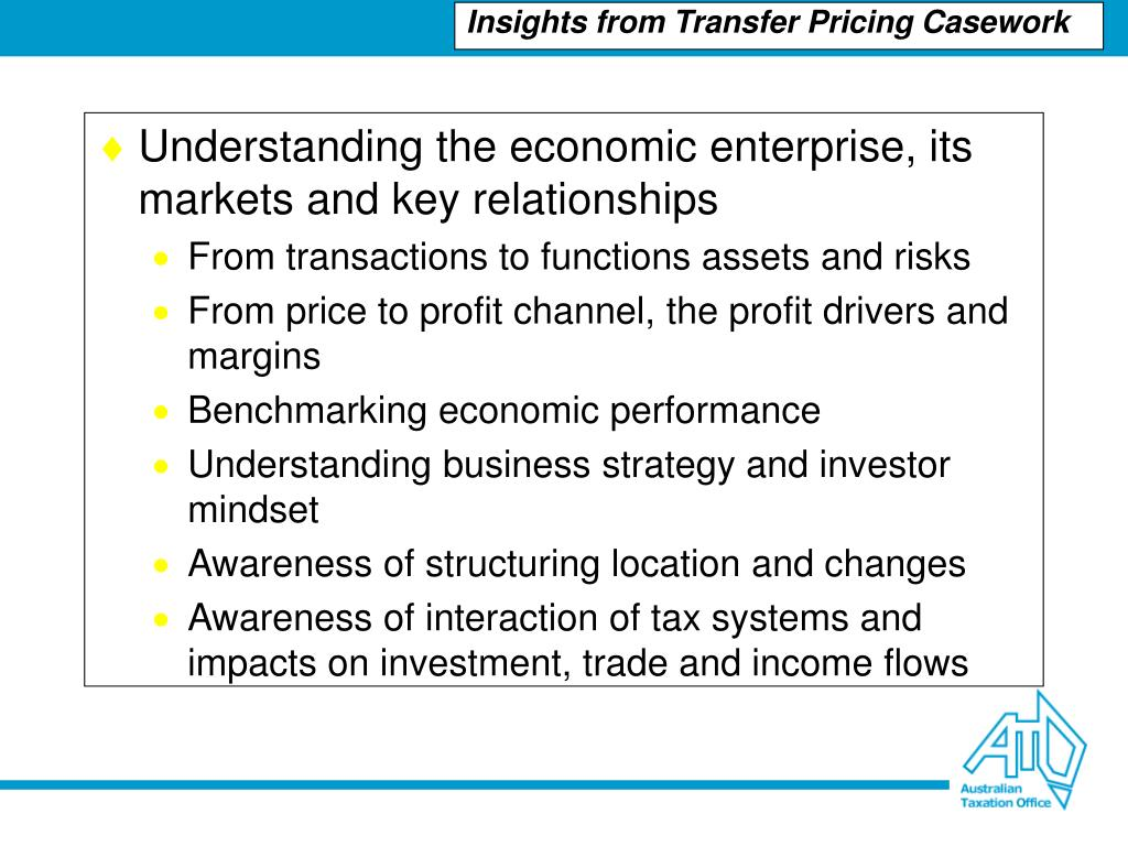 Understanding the economic enterprise, its markets and key relationships