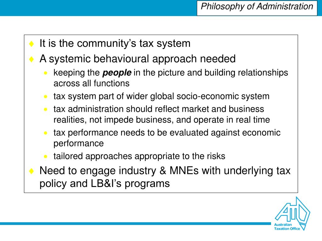 It is the community's tax system