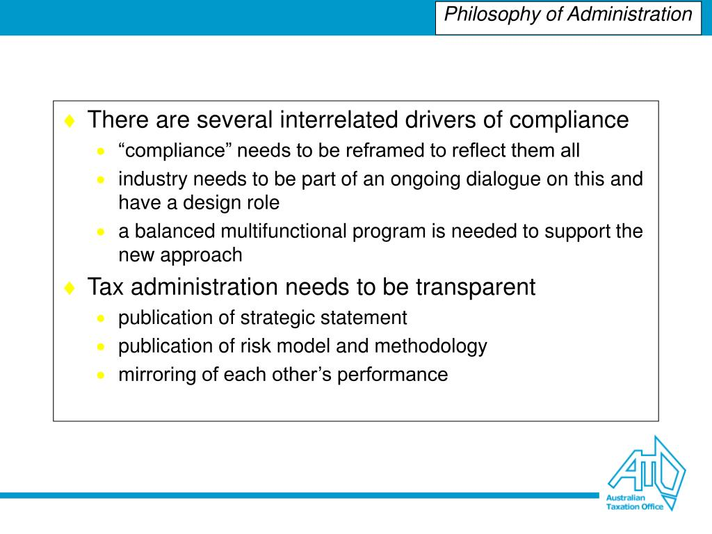 There are several interrelated drivers of compliance
