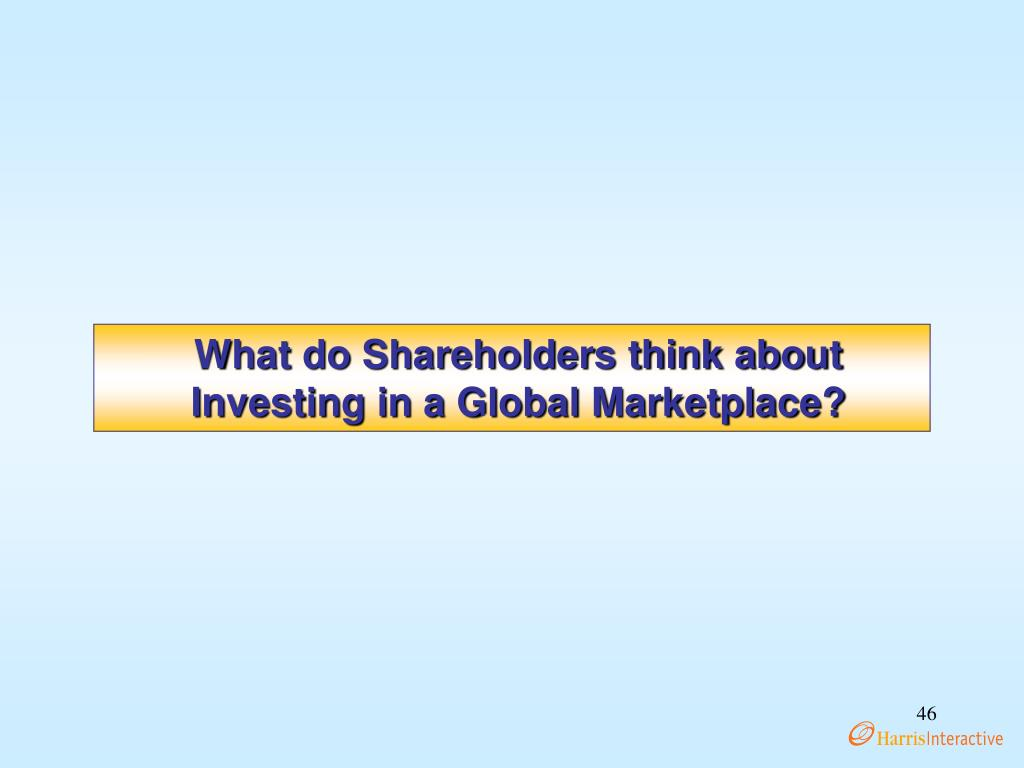 What do Shareholders think about