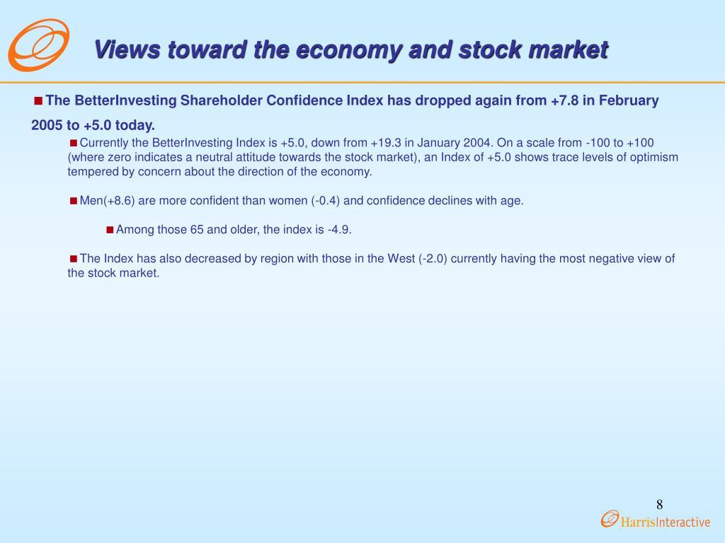 Views toward the economy and stock market