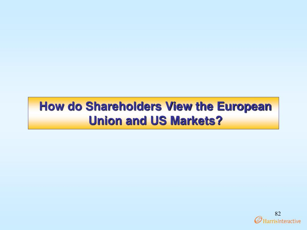 How do Shareholders View the European Union and US Markets?