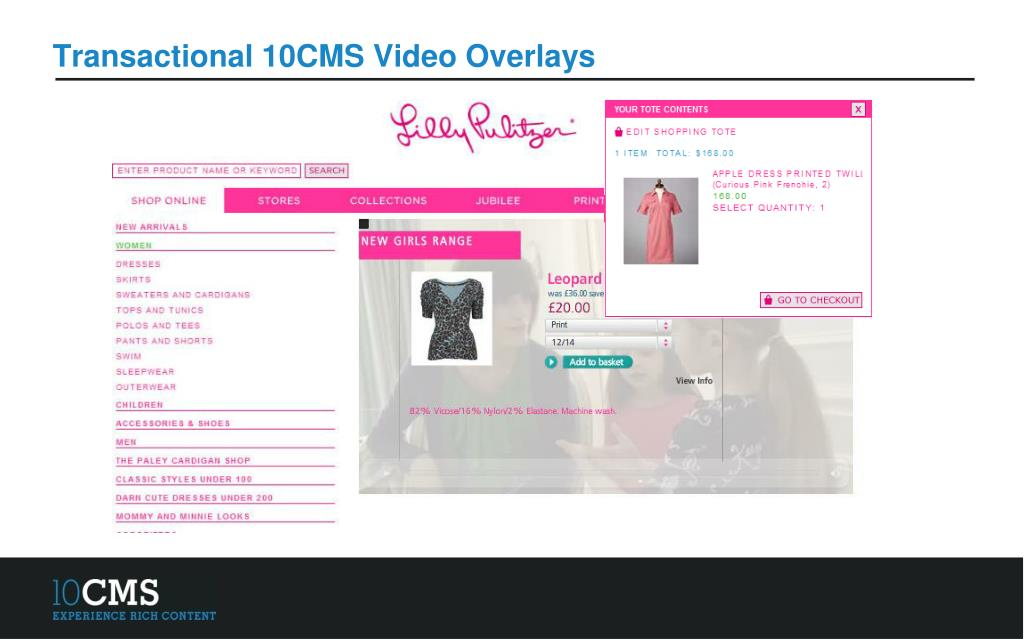 Transactional 10CMS Video Overlays