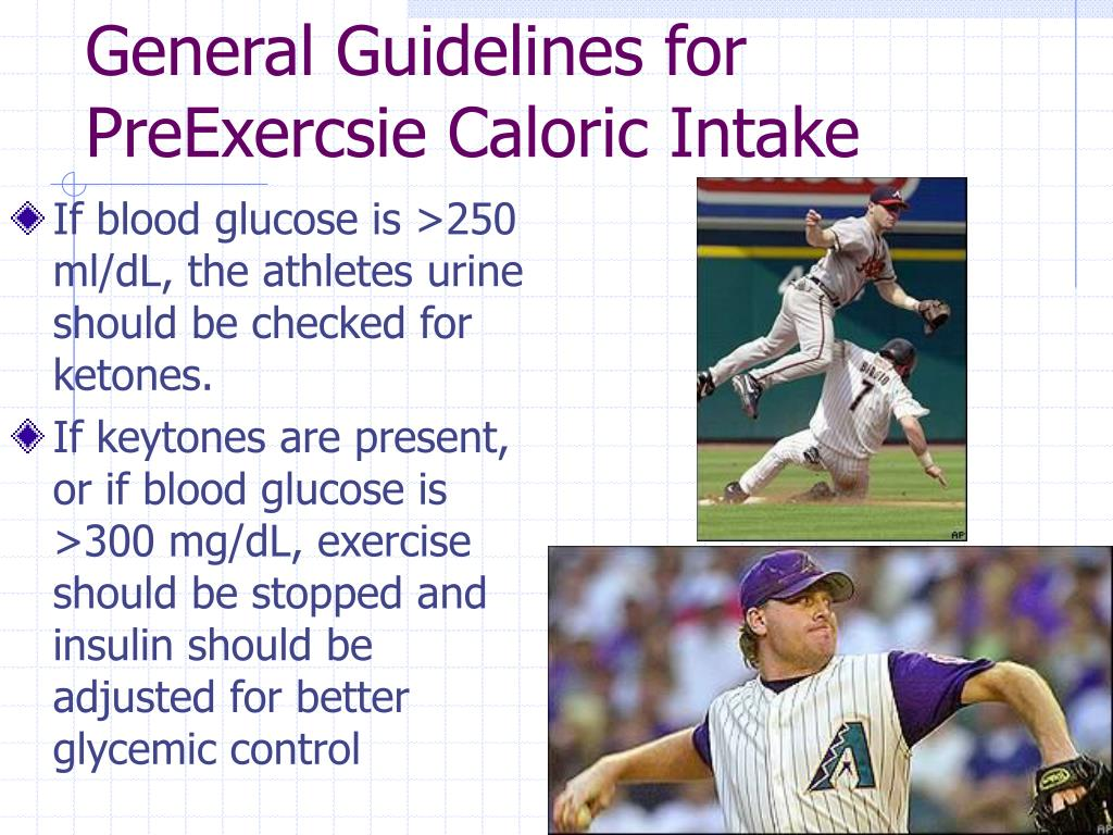 General Guidelines for PreExercsie Caloric Intake