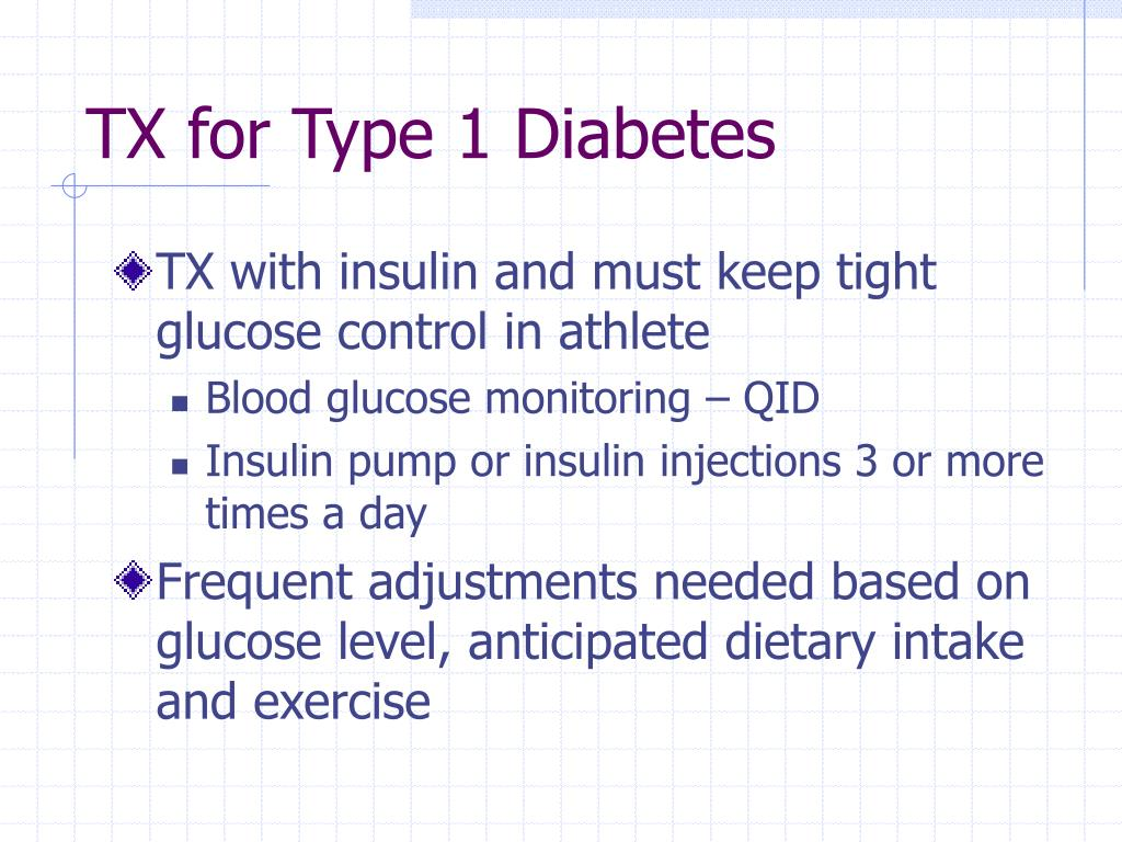 TX for Type 1 Diabetes