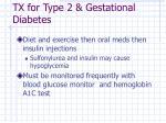 tx for type 2 gestational diabetes