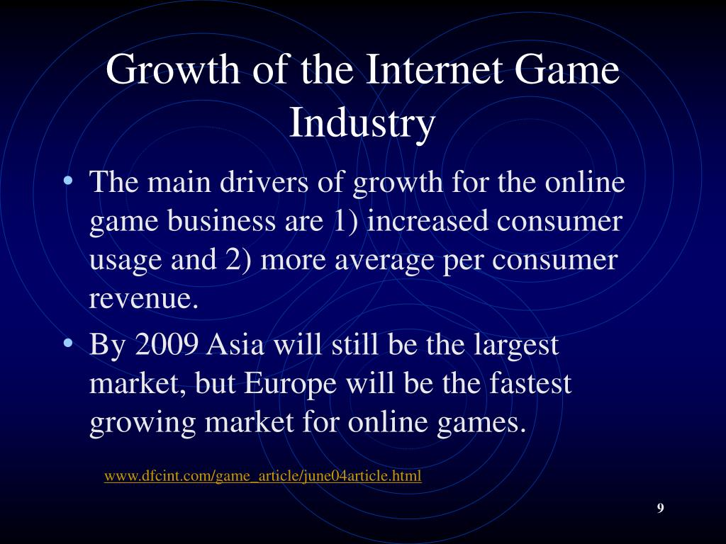 Growth of the Internet Game Industry