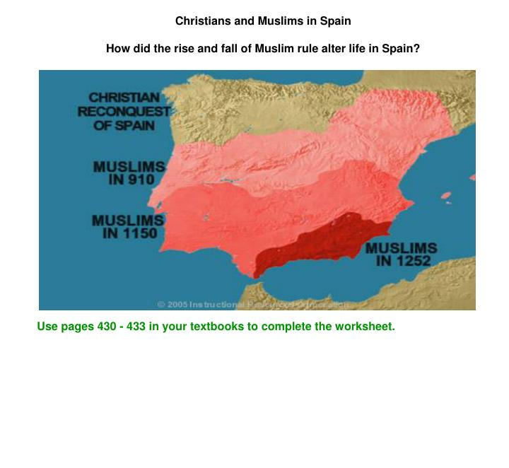 Christians and Muslims in Spain