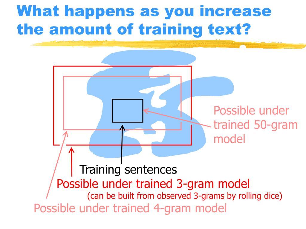 Training sentences