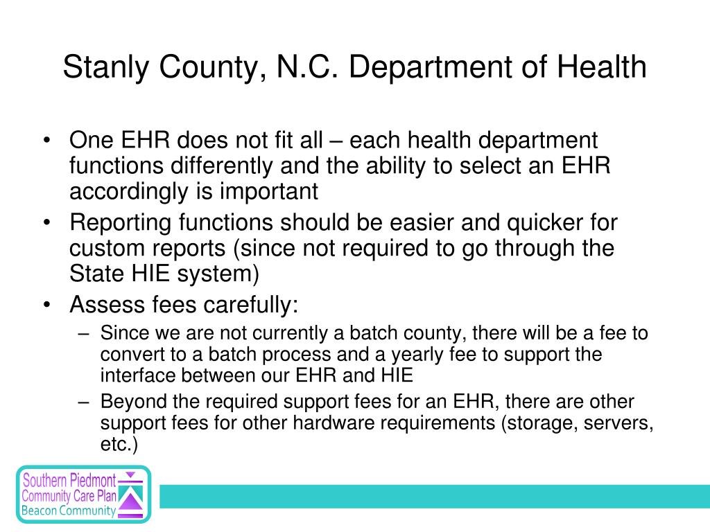 Stanly County, N.C. Department of Health