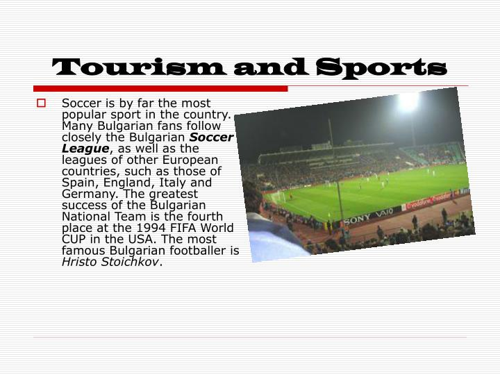 Tourism and Sports