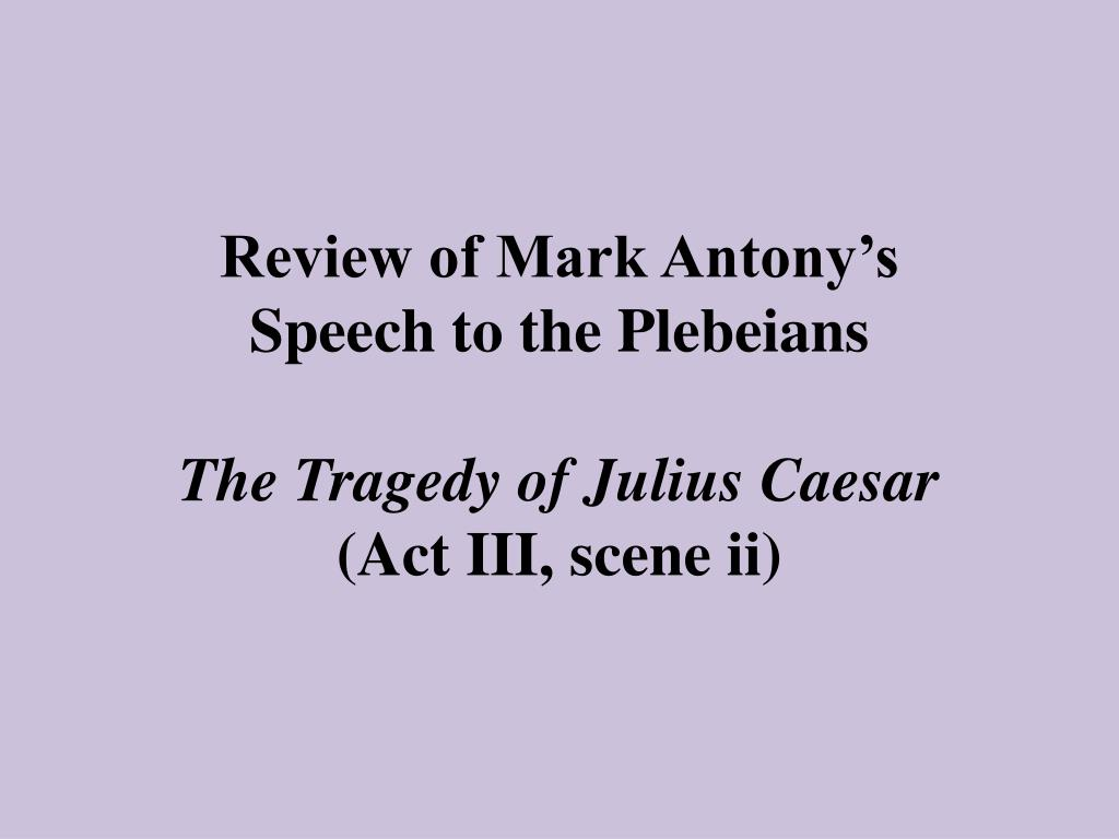 Review of Mark Antony's