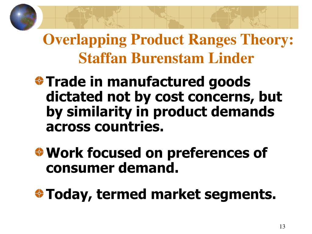 Overlapping Product Ranges Theory:
