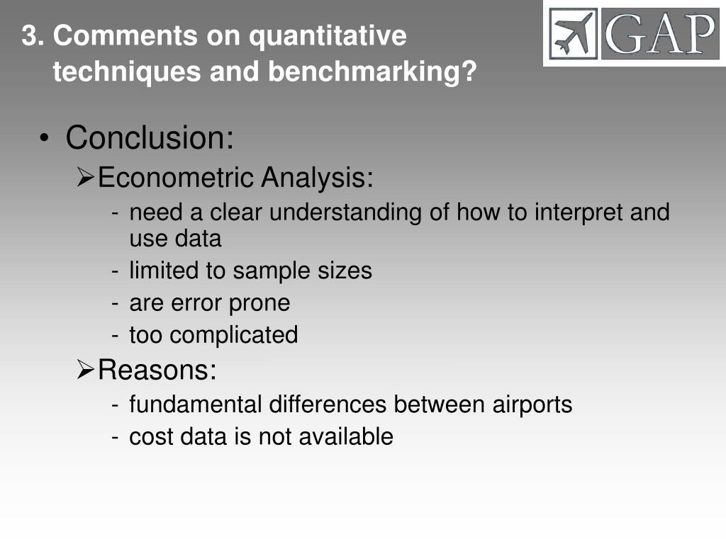 3. Comments on quantitative