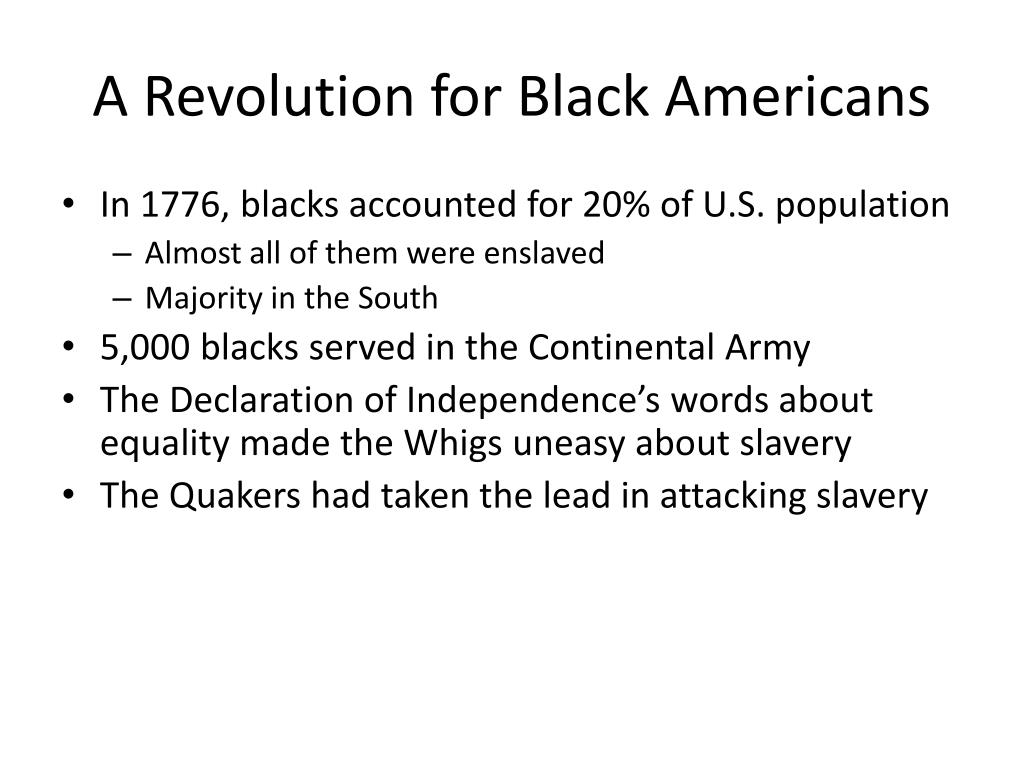 A Revolution for Black Americans
