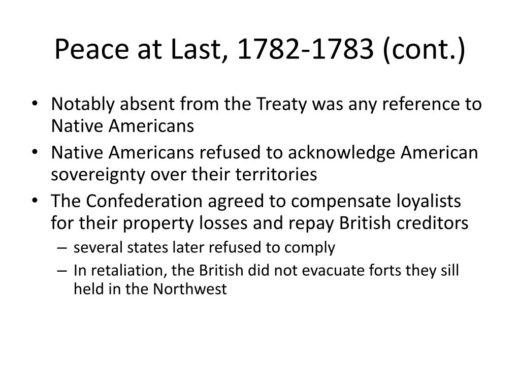 Peace at Last, 1782-1783 (cont.)