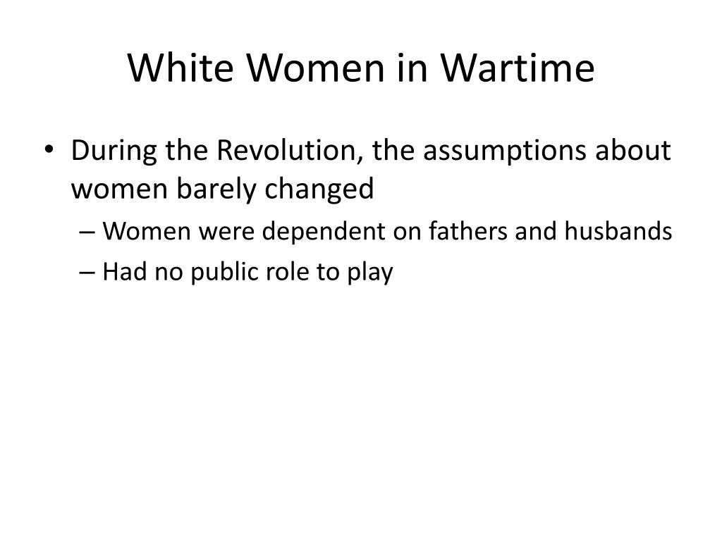 White Women in Wartime