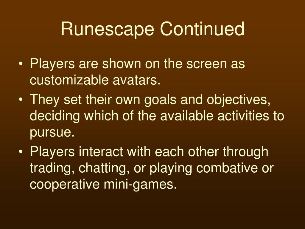 Runescape Continued