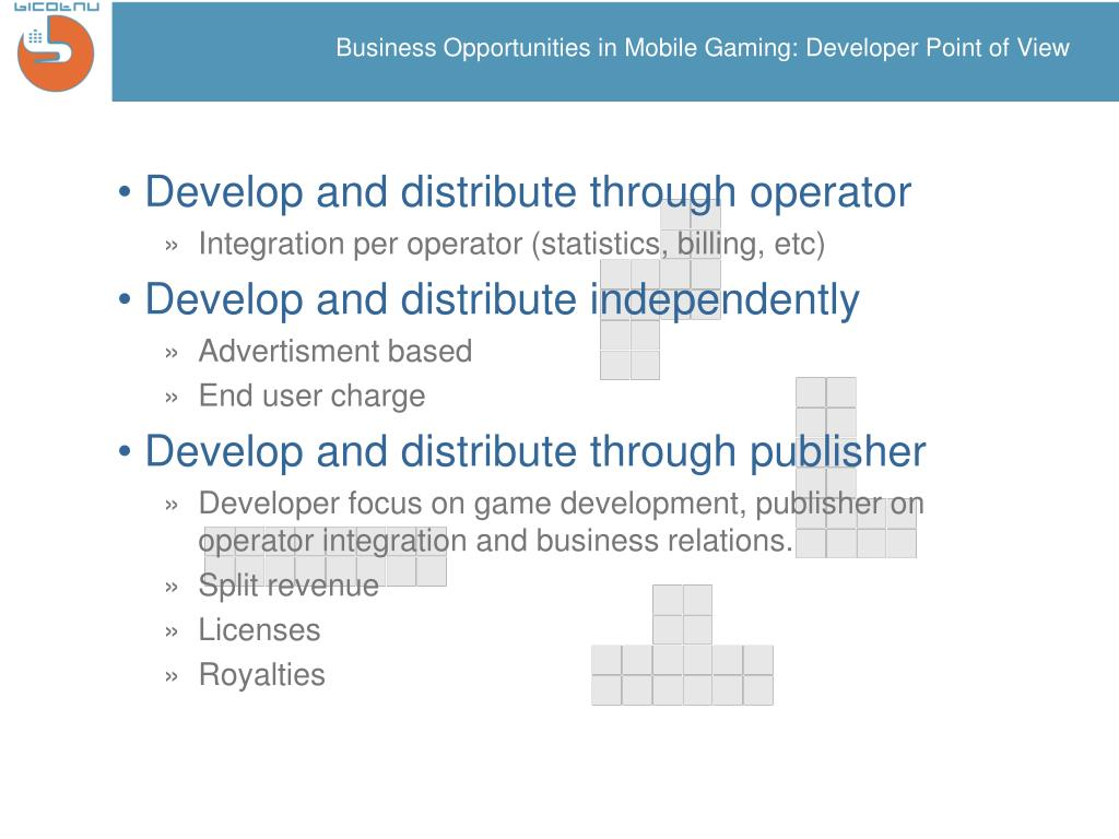 Business Opportunities in Mobile Gaming: Developer Point of View