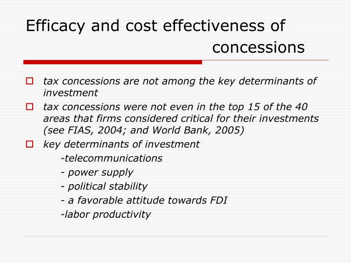 Efficacy and cost effectiveness of
