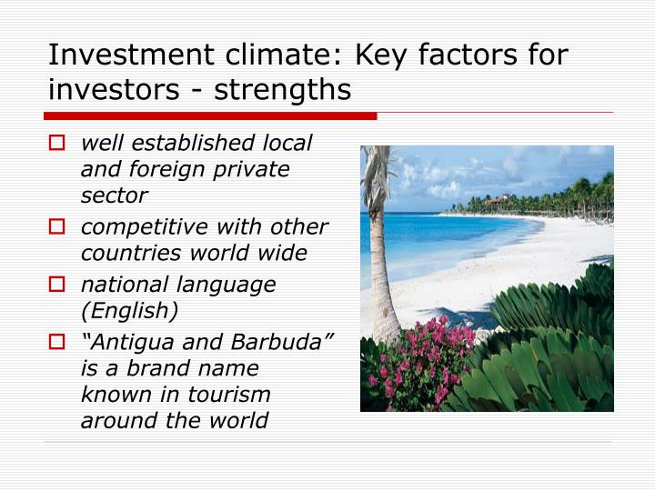 well established local and foreign private sector
