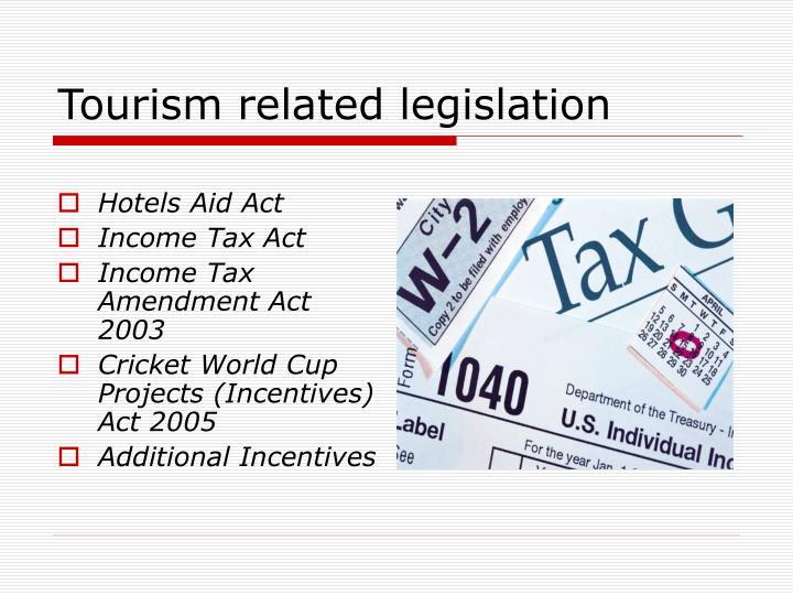Tourism related legislation