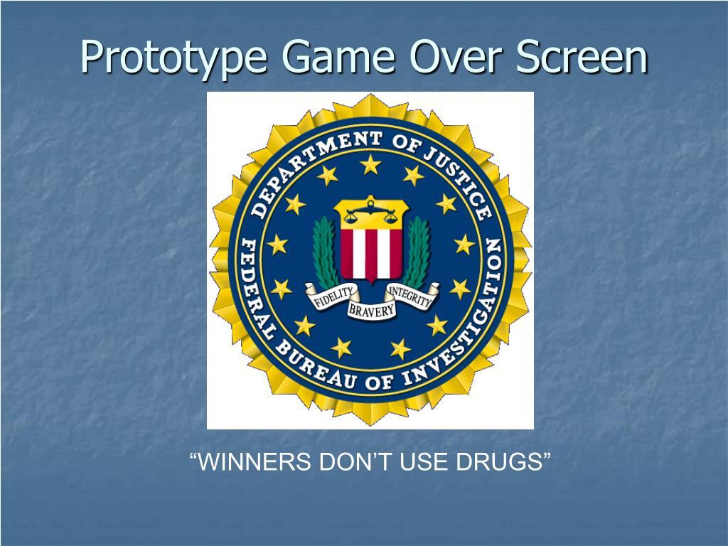 Prototype Game Over Screen