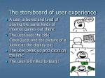 the storyboard of user experience