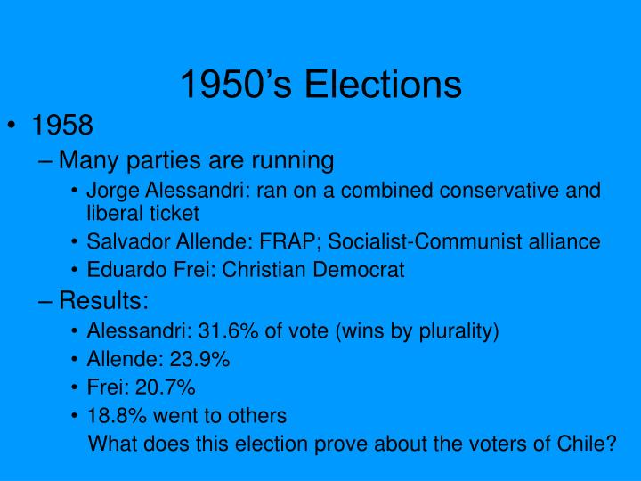 1950 s elections