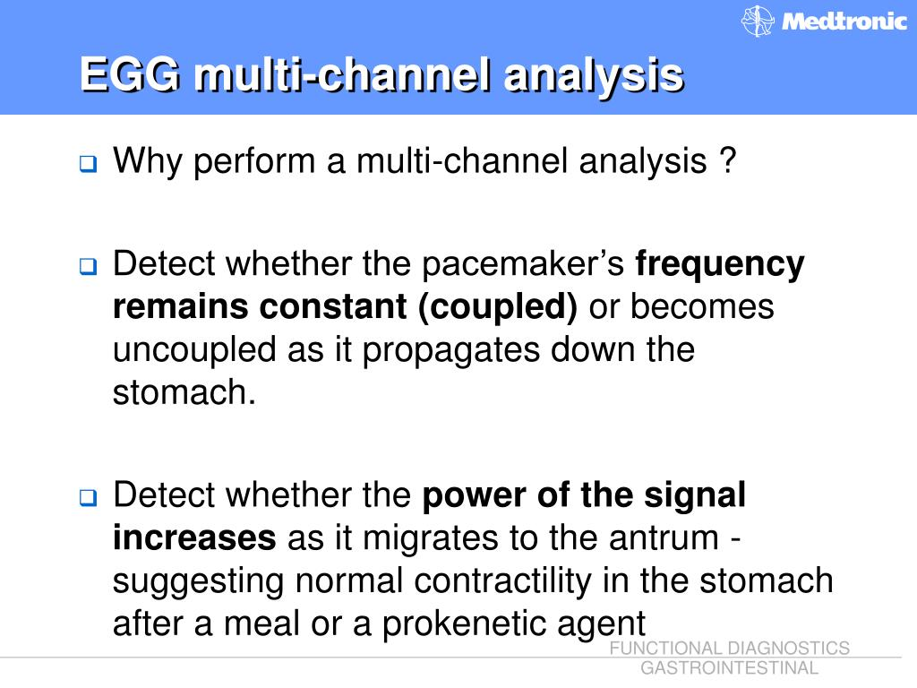 EGG multi-channel analysis