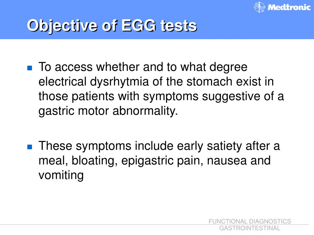 Objective of EGG tests